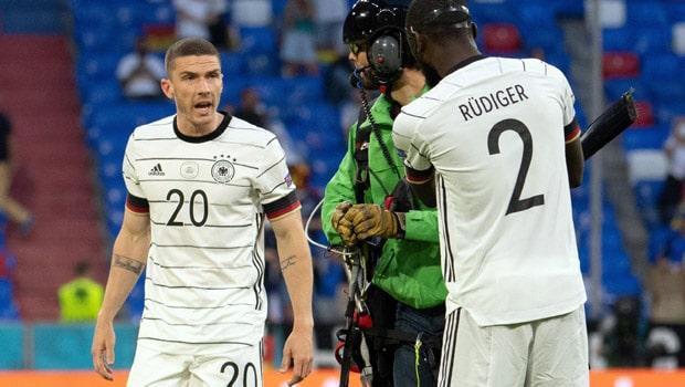 Antonio Rudiger and Robin Gosens Germany Euro 2020